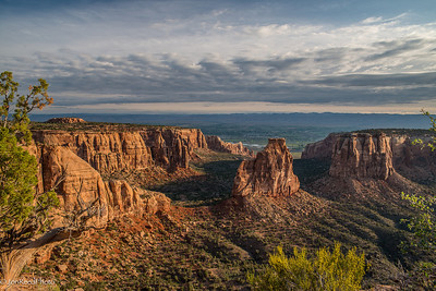 Early morning light from the western side of Monument Canyon..